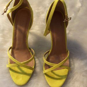 GREEN HIGH HEELED SANDALS